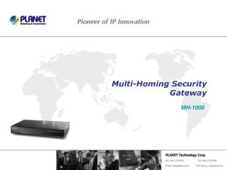 Multi-Homing Security  Gateway