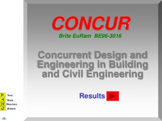 Concurrent Design and Engineering in Building and Civil Engineering