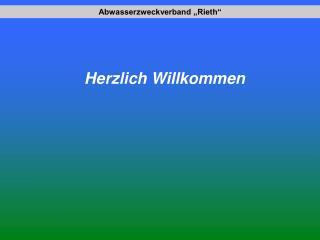 """Abwasserzweckverband """"Rieth"""""""