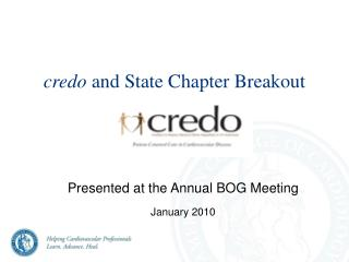 credo  and State Chapter Breakout