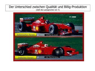 Der Unterschied zwischen Qualität und Billig-Produktion (stell die Lautsprecher ein !!)