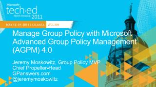 Manage Group Policy with Microsoft Advanced Group Policy Management AGPM 4.0