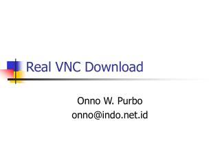 Real VNC Download