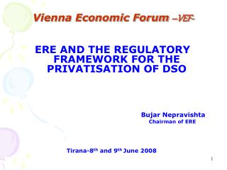 Vienna Economic Forum –VEF-