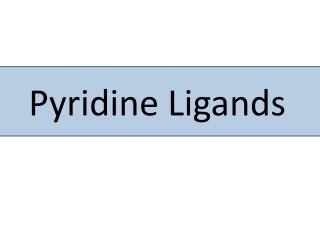 Pyridine Ligands