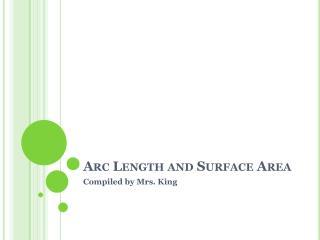 Arc  Length and Surface Area
