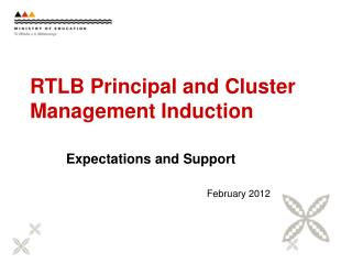 RTLB Principal and Cluster Management Induction