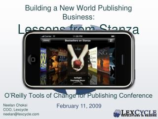 Building a New World Publishing Business: Lessons from Stanza