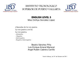 INSTITUTO TECNOLOGICO SUPERIOR DE PUERTO VALLARTA