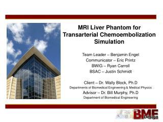 MRI Liver Phantom for Transarterial Chemoembolization Simulation