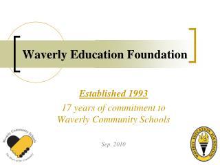Waverly Education Foundation