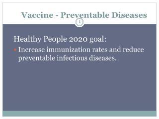 Vaccine - Preventable Diseases