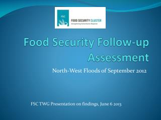 Food Security Follow-up Assessment