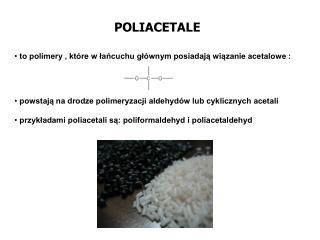 POLIACETALE