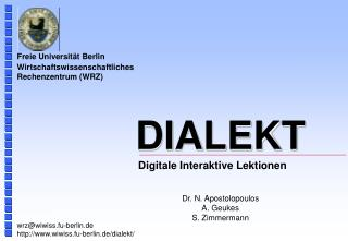 Digitale Interaktive Lektionen