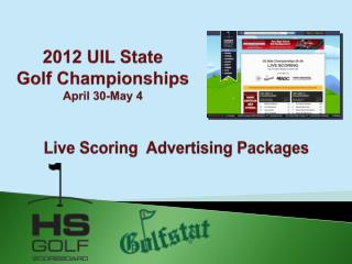 2012 UIL State  Golf Championships April 30-May 4