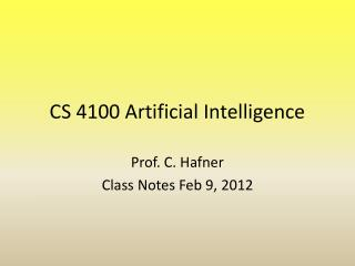 CS 4100 Artificial Intelligence