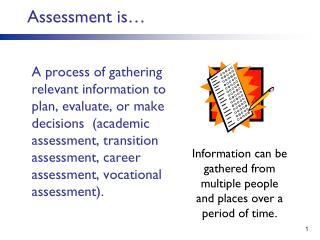 Assessment is�