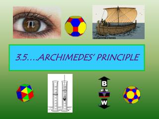 3.5 .ARCHIMEDES  PRINCIPLE