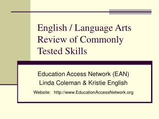 English / Language Arts Review of Commonly Tested Skills