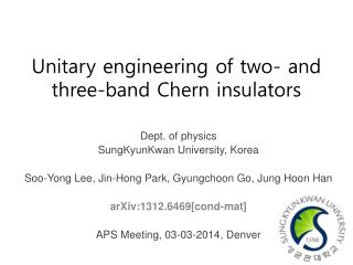 Unitary engineering of two- and three-band  Chern  insulators