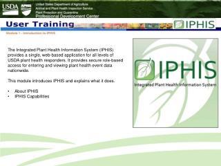 IPHIS Change Control Process