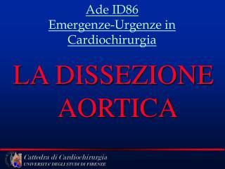 Ade ID86 Emergenze-Urgenze in Cardiochirurgia