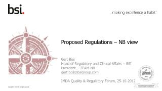 Proposed Regulations – NB view