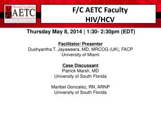 F/C AETC Faculty HIV/HCV