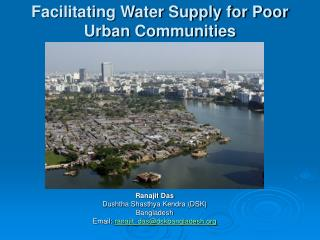 Facilitating Water Supply for Poor Urban Communities