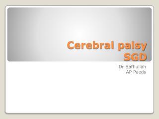 Cerebral palsy SGD