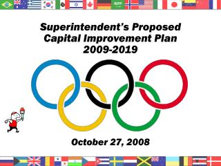 Superintendent's Proposed  Capital Improvement Plan  2009-2019