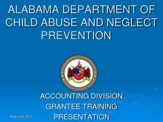 ALABAMA DEPARTMENT OF CHILD ABUSE AND NEGLECT PREVENTION