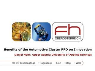 Benefits of the Automotive Cluster PPD on Innovation