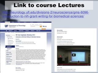 Link to course Lectures