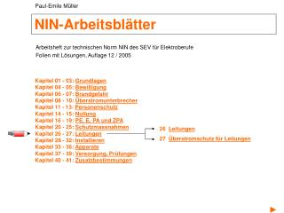 NIN-Arbeitsbl�tter