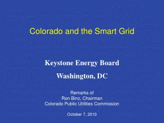 Colorado and the Smart Grid