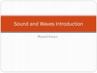 Sound and Waves Introduction