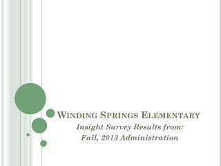 Winding Springs Elementary