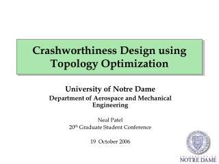 Crashworthiness Design using Topology Optimization