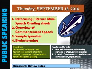 Thursday,  SEPTEMBER  18,  2014