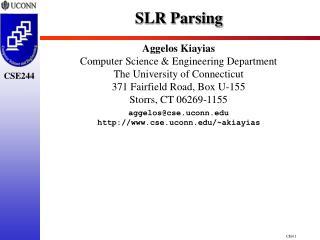 SLR Parsing