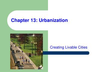 Chapter 13: Urbanization