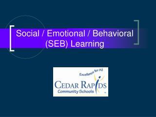 Social / Emotional / Behavioral (SEB) Learning