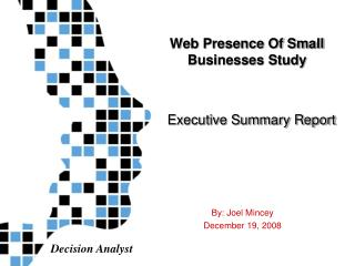 Web Presence Of Small Businesses Study