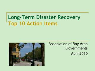 Long-Term Disaster Recovery Top 10 Action Items