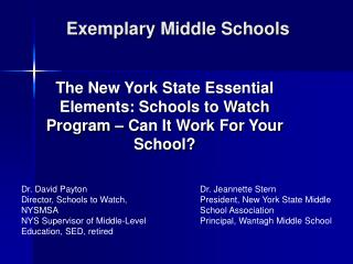 Exemplary Middle Schools