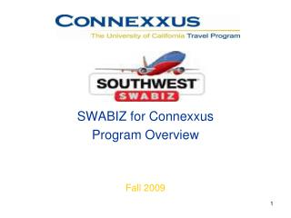 SWABIZ for Connexxus Program Overview Fall 2009