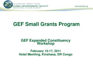 GEF Small Grants Program