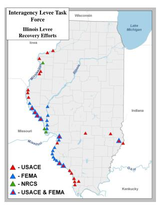 Interagency Levee Task Force Illinois Levee       Recovery Efforts